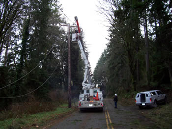 Utility Equipment at Work